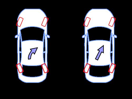 为什么汽车转弯的时候不是四个轮子一起转动高清图片