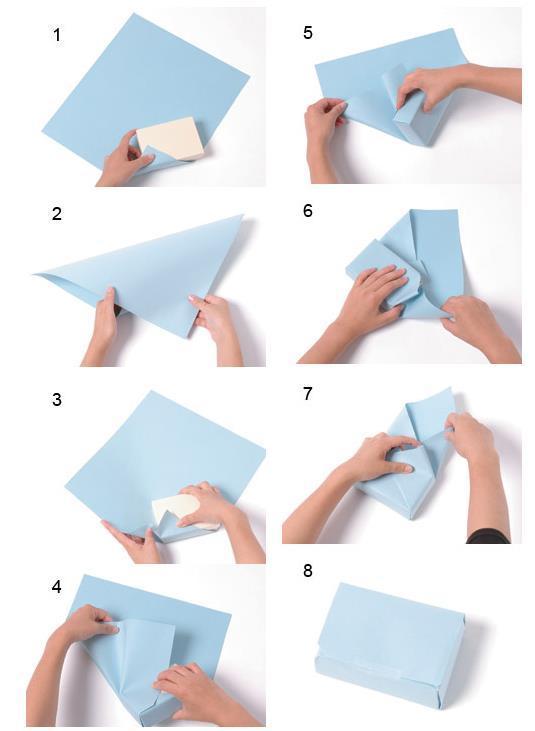 Как запаковать подарок в подарочную бумагу без скотча 62