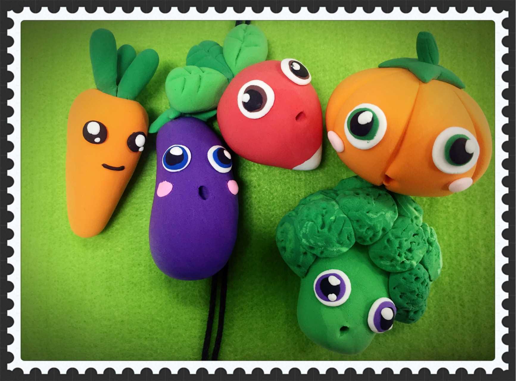蔬菜粘土手工制作步骤