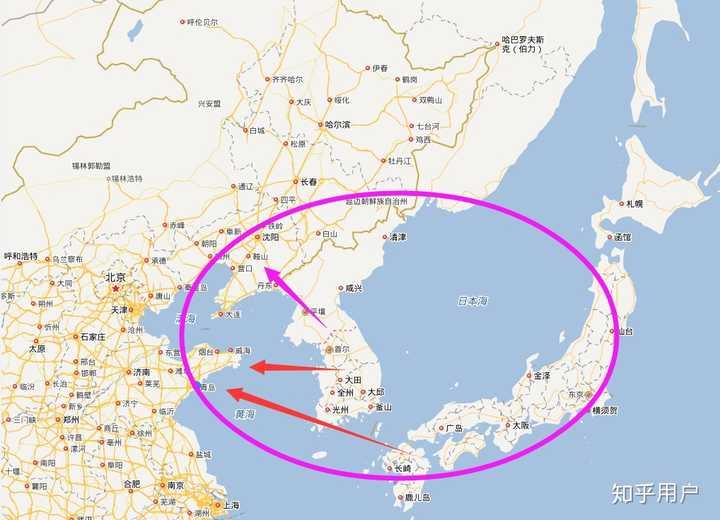 传统的东北亚经济圈包括东北山东地区,蒙古,俄罗斯远东,朝鲜,韩国图片
