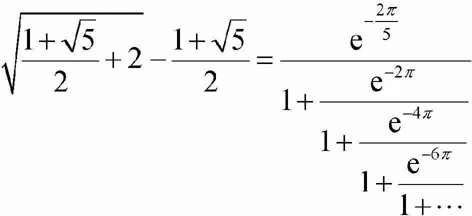 我也来提一个公式,是由印度天才数学家拉马努金发现的.
