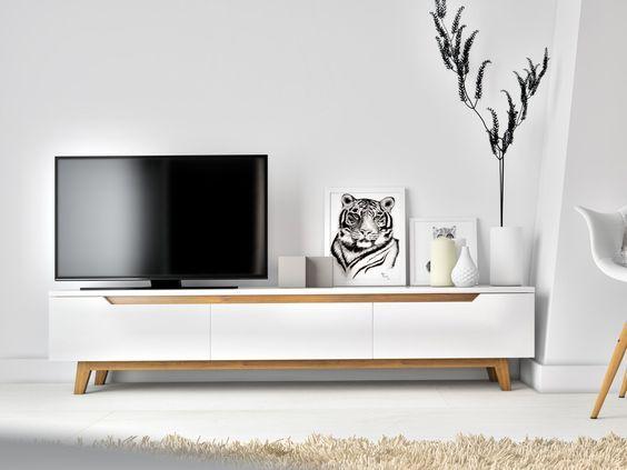 装修时客厅不吊顶不要电视墙,可行否?这样的装饰怎样才能显得不单调?图片
