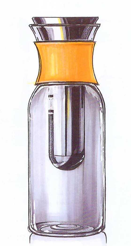 用白色水粉或丙烯颜料绘制玻璃或金属高光,用橙色让橡胶的形体过度图片