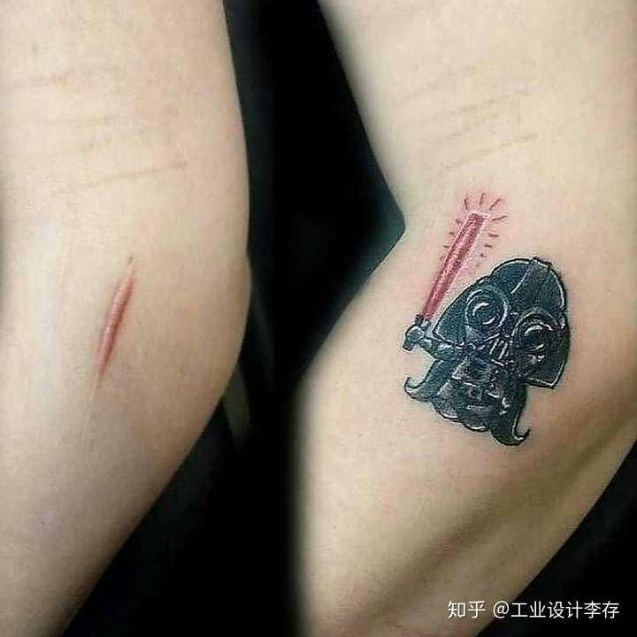 有哪些好看的伤疤上的纹身?