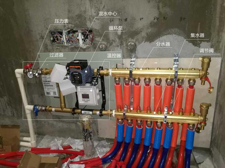 10,水地暖的水管基本不会坏,出问题大多在分集水器那里,调节阀的螺丝图片