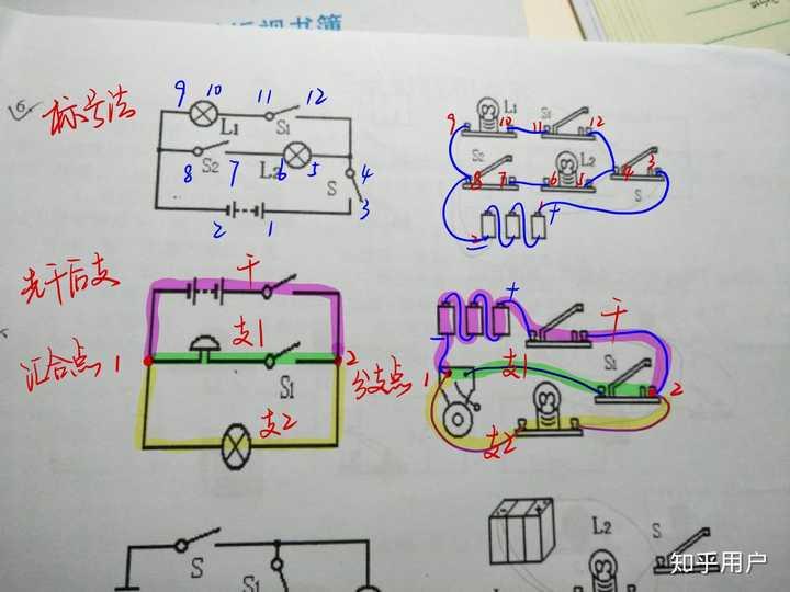 怎么看初中物理电路图?