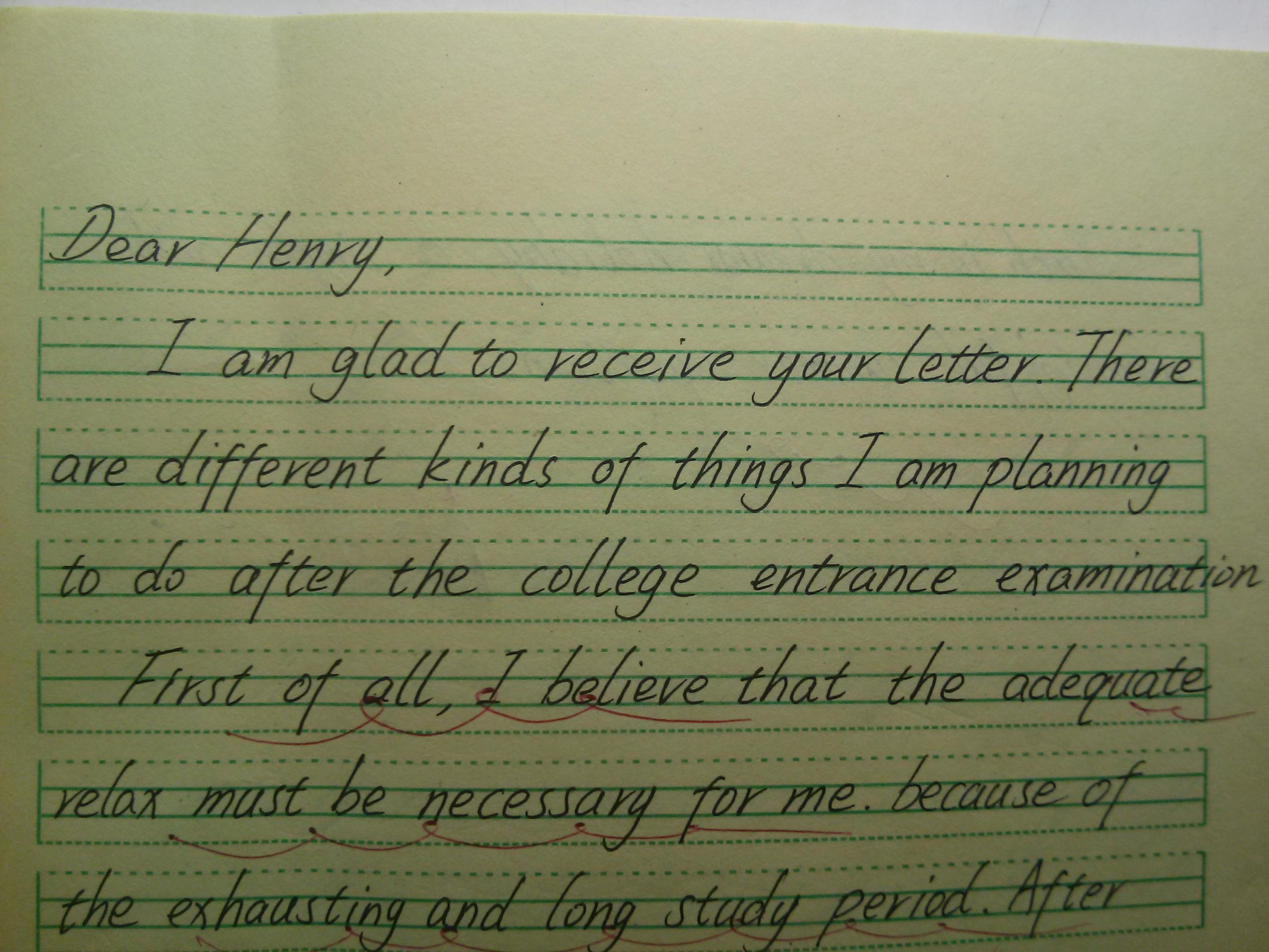 我们上学接受的英文书写训练是否是正确的?外国人手写