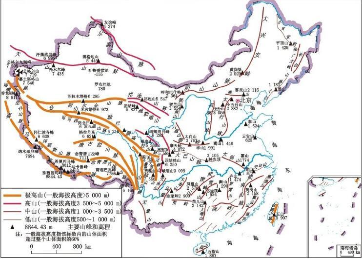 中国名山大川,各大山脉有大神能图解一下吗?图片