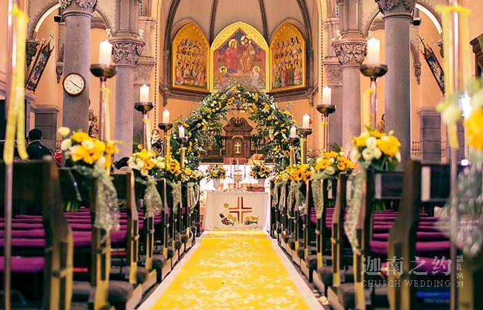 新欧式婚礼现场布置图片