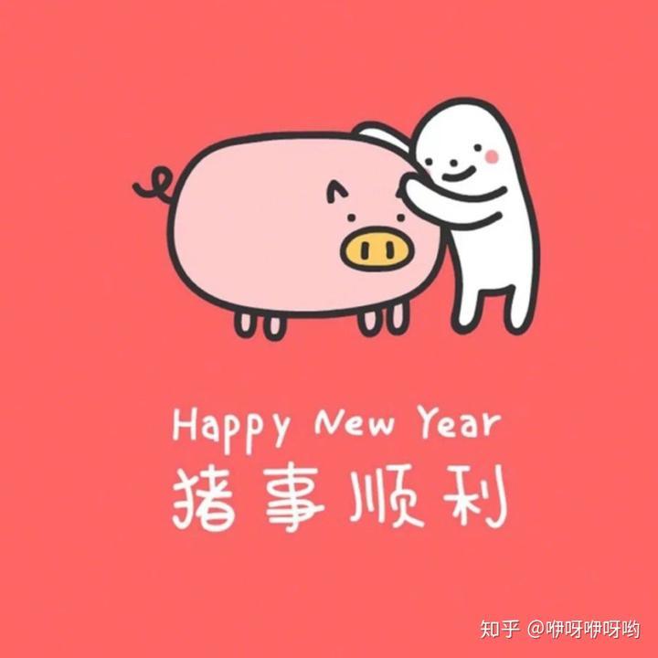 提前祝大家猪年猪事顺利~耶图片