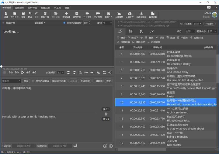 给视频翻译字幕可以用哪些软件?