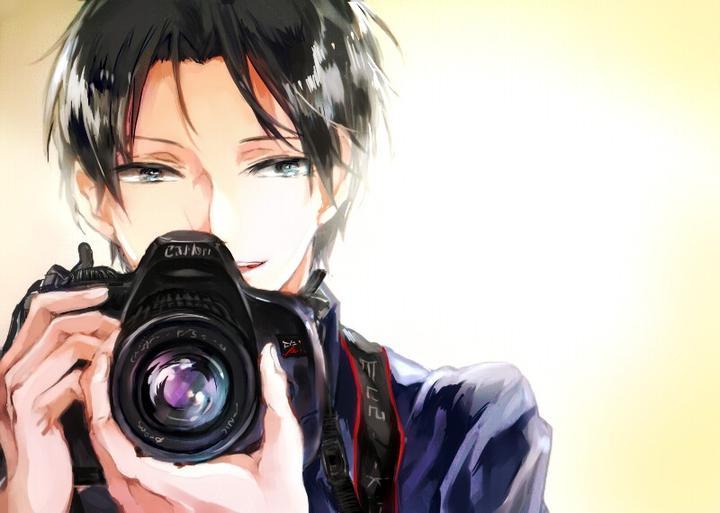 跪求一张男生拿着相机拍照的动漫图片,清晰一点的 ?动漫头像最好?