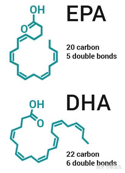 可见epa可以显著降低心血管疾病风险: epa和dha的分子式结构见下图