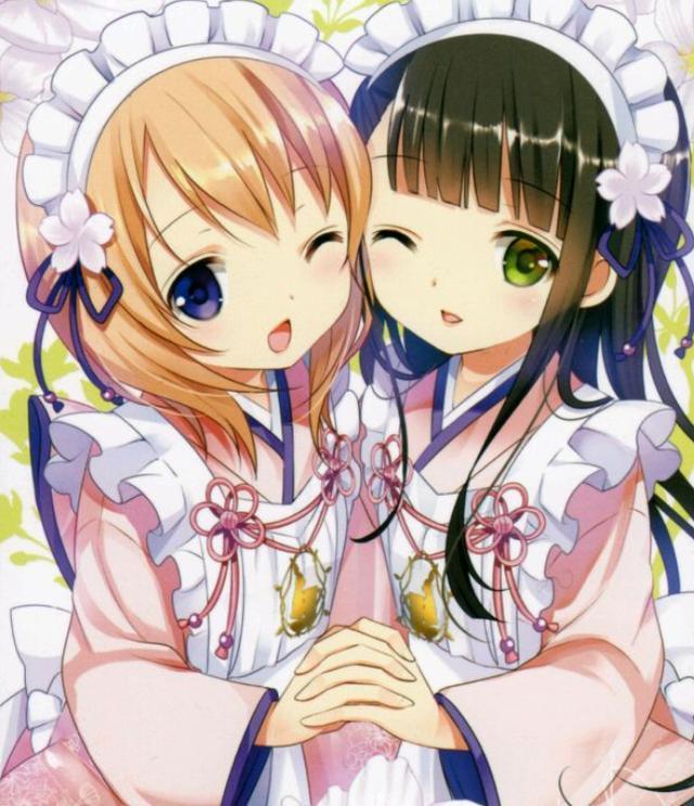 姐妹情深,一条围巾两个人戴,我们的感情亦是如此.图片