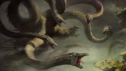 在希腊神话中同样有一个这样的怪物,它叫做九头蛇许德拉!