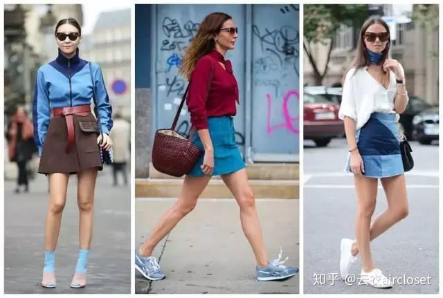 X腿型的女生穿A字裙不很难看?砍人女生图片