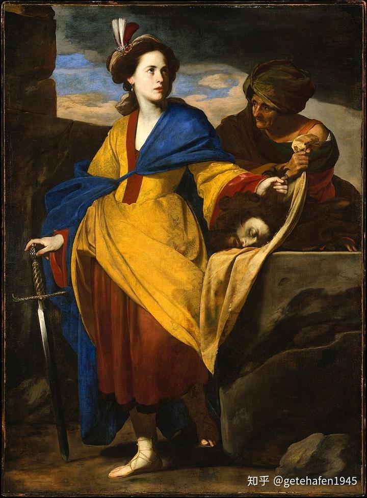 茱蒂丝与荷罗孚尼的首级  1630年 马西莫 斯坦齐奥 大都会博物馆