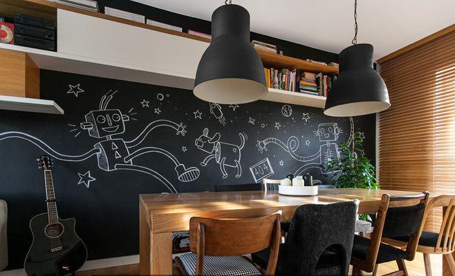 高颜值黑板墙这么设计,好看又实用!