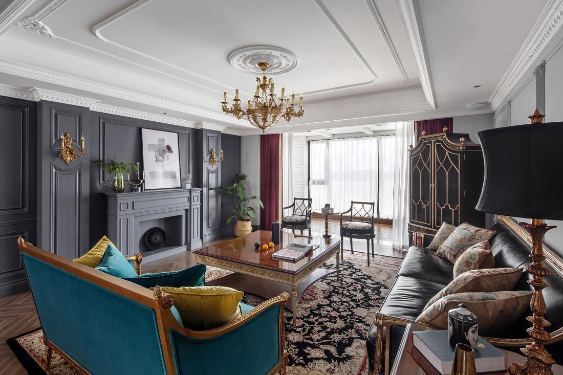 太原天一城252平美式价格风格碰撞,别墅的设计300色彩平别墅中央空调图片