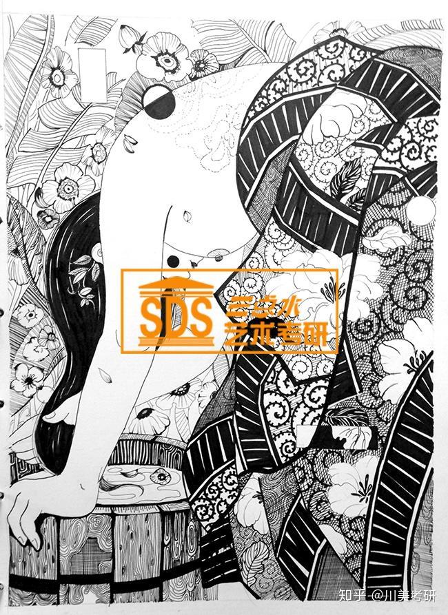 川美考研 川美手工艺考研 川美黑白装饰画考研 川美手工艺设计考研图片