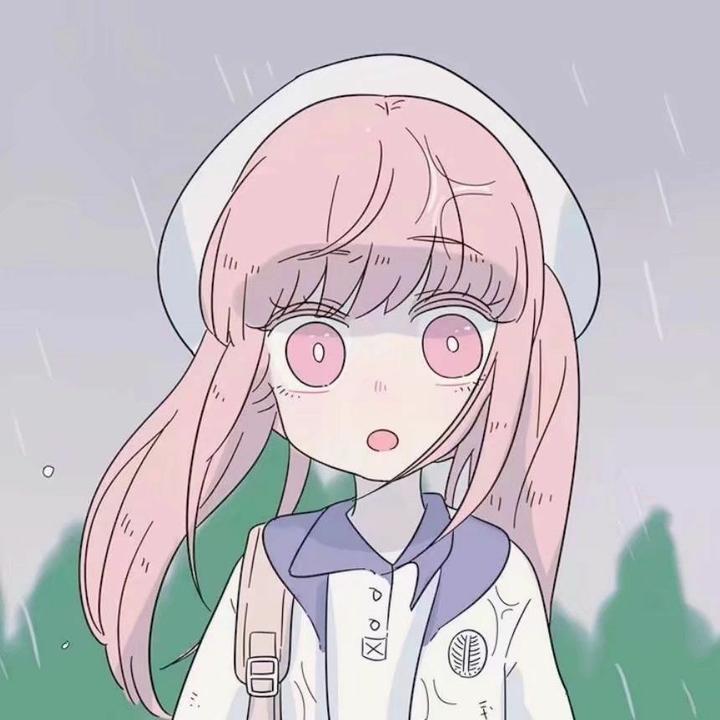有没有粉色头发的动漫头像?图片