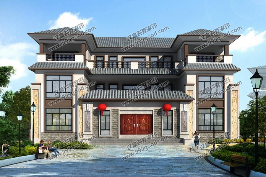 """50万造价新中式双拼别墅,""""0首付""""豪华三层建在农村,心动不"""