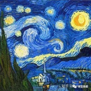 (印象派画家--梵高的代表作品《星空》)