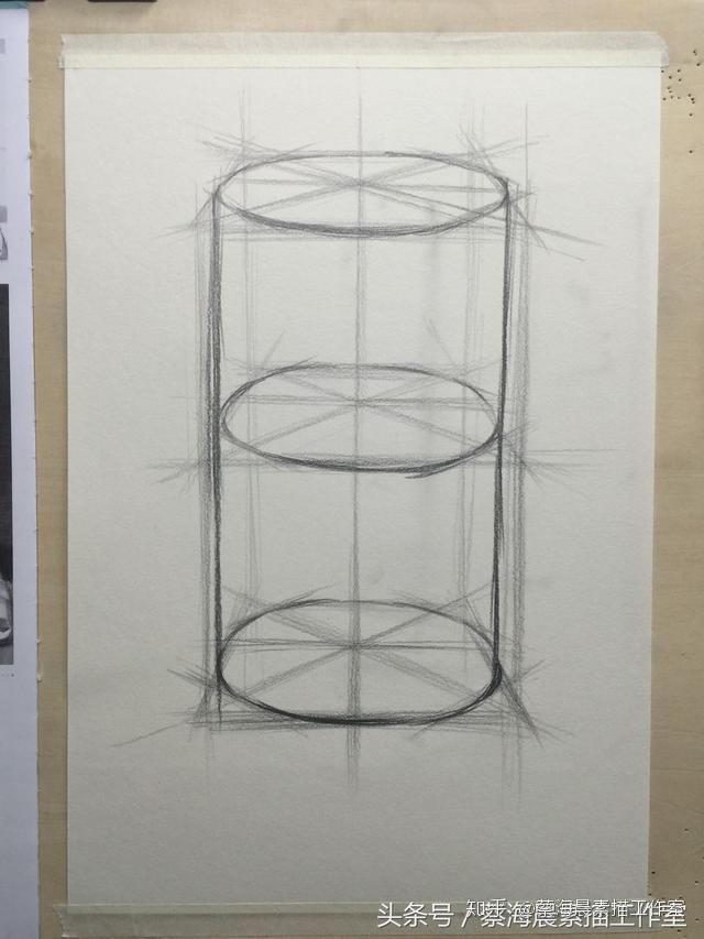 圆柱体结构素描画法—史上最多步骤的教学
