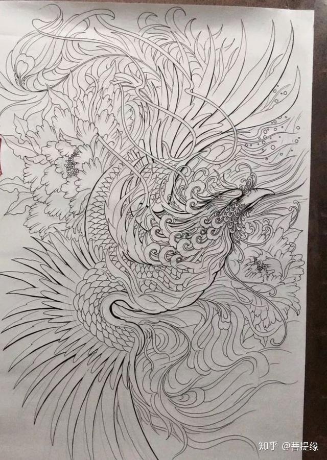 传统纹身图案寓意第六集:凤凰(上)