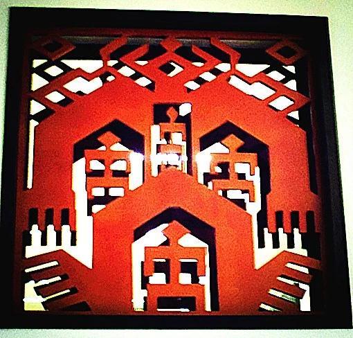 这个人行图案是黎族文化的标志,似乎也是黎族文化的图腾.图片