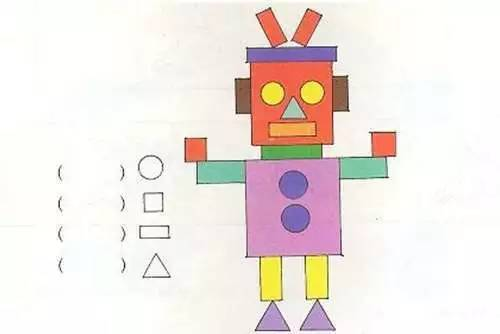 机器人分别由哪几个图形组成?图片