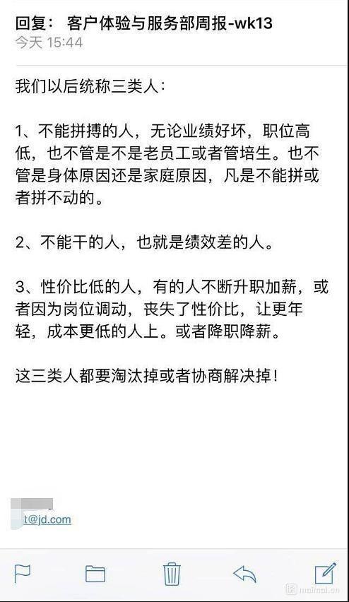 京东:坚决裁掉因家庭和身体原因不拼命的员工