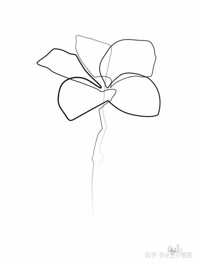 以连贯且不中断的线条组成维妙维肖的人像出名.