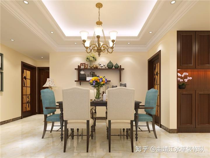 曲靖客餐厅装修,墙面用什么材料好?贴瓷砖怎么样图片