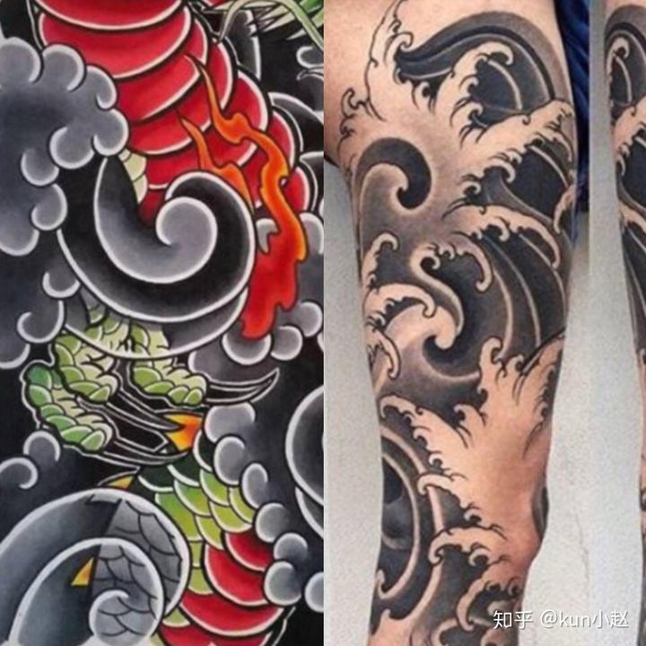 纹身风格大杂烩(2):日式老传统与新传统图片