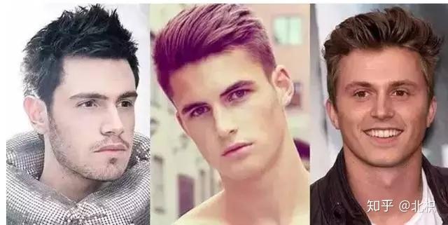 建议选择稍长的发型 心形脸的男生也是非常美观的脸型比例, 从额头到图片