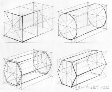 画直线 但讲真,刚开始拿笔画直线,手会抖~ 所以画全是直线构成的正方图片