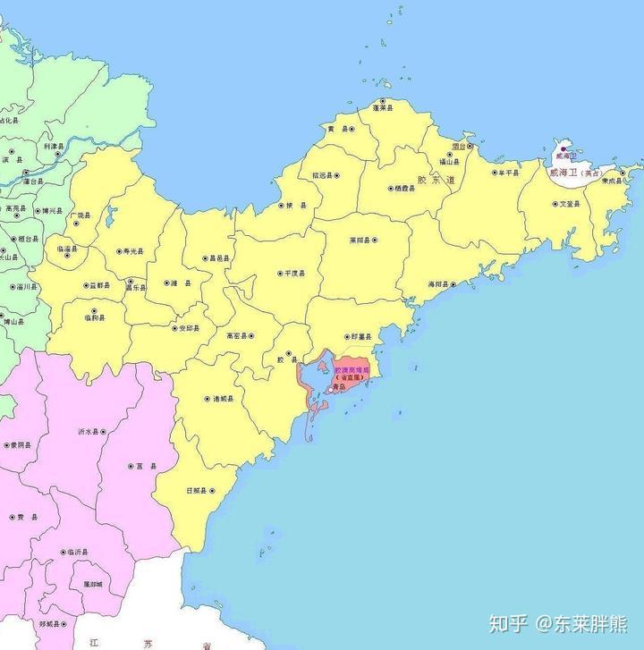 胶东半岛历史地图(八):民国图片