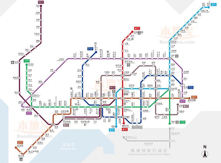 深圳地�_为什么深圳地铁的线路规划不像北京一样设计成棋盘布局?