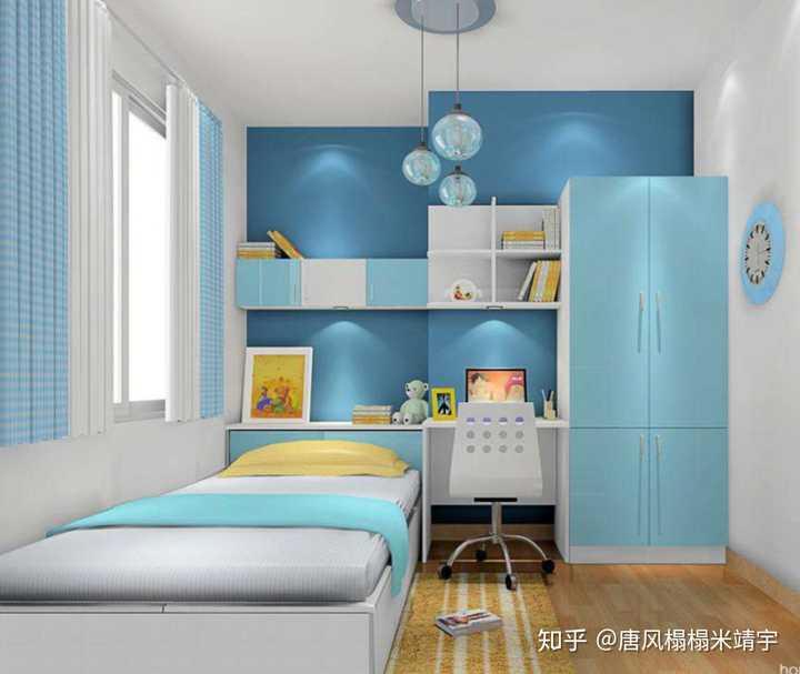 怎么設計帶飄窗的兒童房好看呢?
