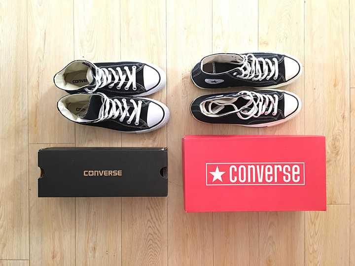 匡威鞋盒_匡威的1970s和all star在外型上有什么区别?