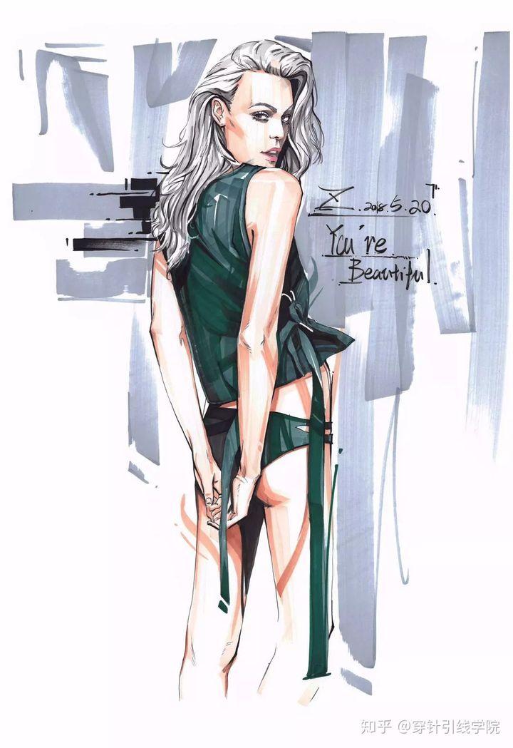 人体与衣褶如何处理?服装手绘这么学……