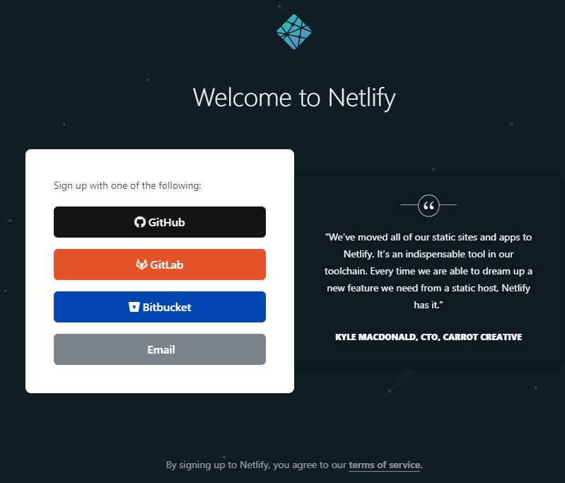 Netlify的四种注册方式