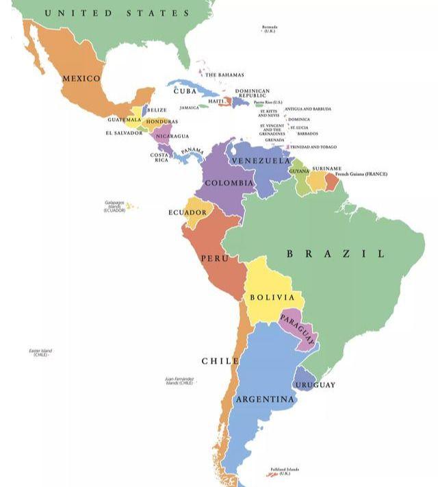 拉丁美洲有哪些国家(拉丁美洲包括哪些地方呢)