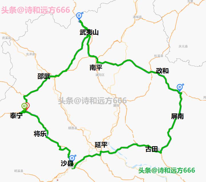 闽北是哪里(闽北7天自驾路线推荐)