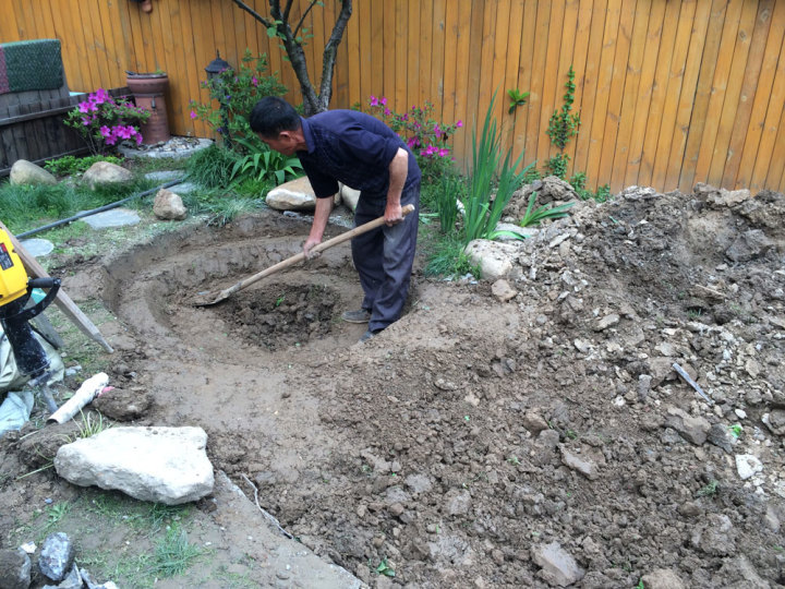 庭院建造池塘的造景过程【转自weibo:@马锐拉】插图(14)