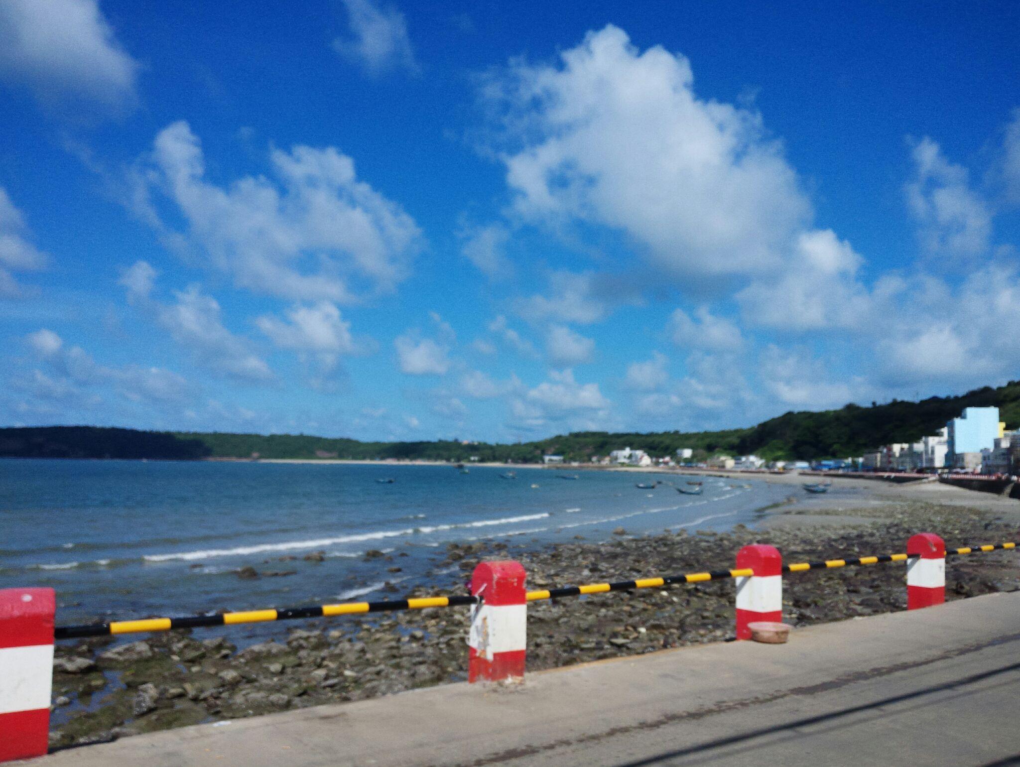涠洲岛风景速写图片