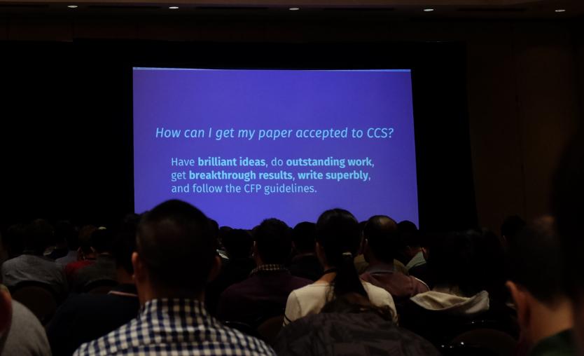 ACM CCS 2017 会议每日报道:Day 1