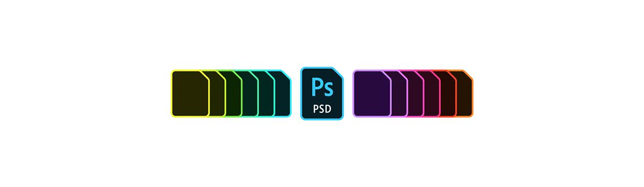 「案例」重新设计 Adobe 的文件类型图标