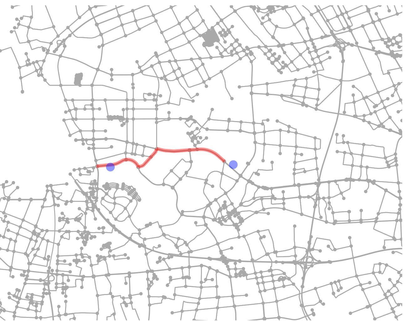 不用百度API也能计算驾驶距离——OSMnx计算多点驾车距离